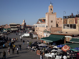 View over Market, Place Jemaa el Fna, Marrakesh, Morocco, North Africa, Africa Photographic Print by Frank Fell