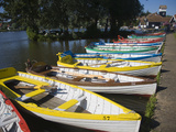 Rowing Boats Lined Up on the Meare Boating Lake, Thorpeness, Suffolk, England, UK, Europe Photographic Print by Ian Murray