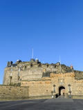 Entrance to Edinburgh Castle under Clear Blue Sky, Edinburgh, Lothian, Scotland Photographic Print by Chris Hepburn