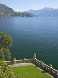 View from Terrace of 18th Century Villa del Balbianello, Lenno, Lake Como, Italian Lakes, Italy Photographic Print by Peter Barritt