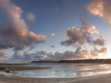 Sunrise over Widemouth Bay Beach, Cornwall, England, United Kingdom, Europe Photographic Print by Ian Egner