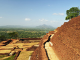 View from Top of Sigiriya (Lion Rock), UNESCO World Heritage Site, Sri Lanka, Asia Photographic Print by Jochen Schlenker
