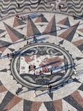 Pavement Map Showing Routes of Portugese Explorers Below Monument to Discoveries, Lisbon, Portugal Fotodruck von Stuart Black