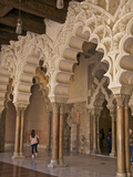 Marble Columns and Typical Polylobe Arches Inside Aljaferia Palace Saragossa (Zaragoza), Spain Photographic Print by Guy Thouvenin