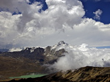 Mount Huayna Potosi Viewed from Mount Chacaltaya, Calahuyo, Cordillera Real, Bolivia, Andes Photographic Print by Simon Montgomery