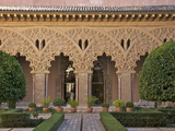 Patio de Santa Isabel, Aljaferia Palace Dating from 11th Century, Aragon, Spain Photographic Print by Guy Thouvenin