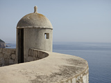 A Lookout Post Fortification with a View of the Adriatic Sea, on the City Wall, Dubrovnik, Croatia Photographic Print by Matthew Frost