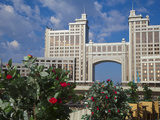 Kazmunaigas Building Home to the Oil and Gas Ministry, Astana, Kazakhstan, Central Asia, Asia Photographic Print by Jane Sweeney