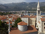 The Old Walled Town of Budva with the Citadela in the Foreground, Budva, Montenegro, Europe Photographic Print by Matthew Frost