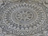 Mosaic in Roman Villa, Risan, Kotor Bay, UNESCO World Heritage Site, Montenegro, Europe Photographic Print by Rolf Richardson