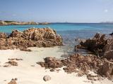 Spiaggia Rosa (Pink Beach) on Island of Budelli, La Maddalena Nat'l Park, Sardinia, Italy Fotografisk tryk af Oliviero Olivieri