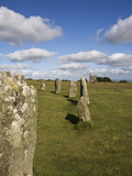 The Hurlers (Stone Circle), Minions, Bodmin Moor, Cornwall, England, United Kingdom, Europe Photographic Print by Jean Brooks