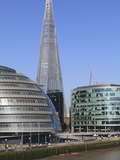 South Bank with City Hall, Shard London Bridge and More London Buildings, London, England, UK Photographic Print by Amanda Hall