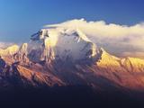 Dhaulagiri Himal Seen from Khopra, Annapurna Conservation Area, Dhawalagiri (Dhaulagiri), Nepal Photographic Print by Jochen Schlenker