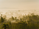 Early Morning Mist on the Kedu Plain at Sunrise from the Borobudur Temple, Java, Indonesia Photographic Print by Matthew Williams-Ellis
