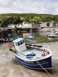 Beached Fishing Boat in the Harbour at Stonehaven, Aberdeenshire, Scotland, United Kingdom, Europe Photographic Print by Mark Sunderland
