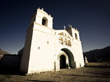 White Chapel High Up on the Sides of Colca Canyon, Arequipa, Peru, South America Photographic Print by Ian Egner