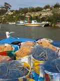 Fishing Boats and Nets, Potamos Tou Liopetri, Cyprus, Mediterranean, Europe Photographic Print by Stuart Black
