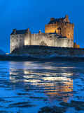 Eilean Donan (Eilean Donnan) Castle Illuminated, Dornie, Loch Duich, Highlands Region, Scotland Photographic Print by Chris Hepburn