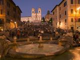 Spanish Steps and Trinita Dei Monti Church, Rome, Lazio, Italy, Europe Photographie par Angelo Cavalli