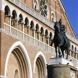 Facade of Il Santo (Basilica di San Antonio) with Donatello's Monument to Gattamelata, Padua, Italy Photographic Print by Stuart Black