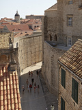 Inside the Walled City of Dubrovnik, UNESCO World Heritage Site, Croatia, Europe Photographic Print by Matthew Frost