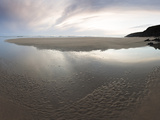 Sunset Sky Reflected in Beach Stream at Sandymouth Bay, Cornwall, England, United Kingdom, Europe Photographic Print by Ian Egner