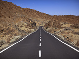 Road in El Teide National Park, UNESCO World Heritage Site, Tenerife, Canary Islands, Spain, Europe Photographic Print by Ian Egner