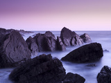 Waves Moving over Jagged Rocks at Hartland Quay, Cornwall, England, United Kingdom, Europe Photographic Print by Ian Egner
