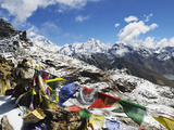 Renjo Pass of Everest Himalayan Range, Sagarmatha Nat'l Park, UNESCO World Heritage Site, Nepal Photographic Print by Jochen Schlenker