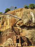 Stairs Leading to Top of Sigiriya (Lion Rock), UNESCO World Heritage Site, Sri Lanka, Asia Photographic Print by Jochen Schlenker