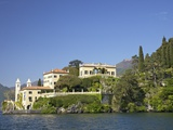 Villa del Balbianello on Punta di Lavedo in Spring Sunshine, Lake Como, Italian Lakes, Italy Photographic Print by Peter Barritt