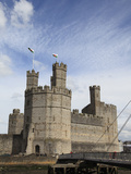 Caernarfon Castle, UNESCO World Heritage Site, Caernarfon, Gwynedd, North Wales, Wales, UK, Europe Photographic Print by Wendy Connett