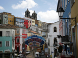 Cobbled Streets and Colonial Architecture, UNESCO World Heritage Site, Salvador, Brazil Photographic Print by Yadid Levy