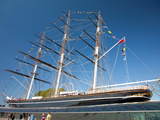 View of the Cutty Sark after Restoration, Greenwich, London, England, United Kingdom, Europe Photographic Print by Adina Tovy