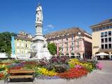 Walther Monument, Walther Platz, Bolzano, Bolzano Province, Trentino-Alto Adige, Italy, Europe Photographic Print by Frank Fell