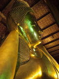 Reclining Golden Buddha in Wat Pho Temple (Wat Phra Chetuphon), Bangkok, Thailand, Southeast Asia Photographic Print by Antonio Busiello