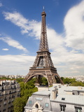 Eiffel Tower, Viewed over Rooftops, Paris, France, Europe Photographic Print by Gavin Hellier