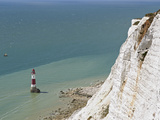 Beach Head Lighthouse, Near Eastbourne, East Sussex, England, United Kingdom, Europe Photographic Print by Matthew Frost