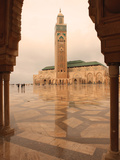 Hassan II Mosque Through Archway, Casablanca, Morocco, North Africa, Africa Photographic Print by Vincenzo Lombardo