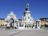 Praca Do Comercio with Equestrian Statue of Dom Jose and Arco Da Rua Augusta, Lisbon, Portugal Photographic Print by Stuart Black