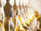 Buddhas at Wat Si Saket, the Oldest Temple in Vientiane, Laos, Indochina, Southeast Asia, Asia Photographic Print by Matthew Williams-Ellis