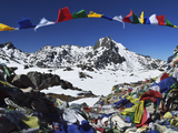Lauribina Pass, Langtang National Park, Bagmati, Central Region (Madhyamanchal), Nepal, Himalayas Photographic Print by Jochen Schlenker