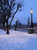 Houses of Parliament and South Bank in Winter, London, England, United Kingdom, Europe Photographic Print by Stuart Black