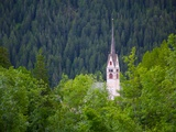 Church, Vigo di Fassa, Fassa Valley, Trento Province, Trentino-Alto Adige/South Tyrol, Italy Photographic Print by Frank Fell