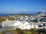 Chora, Amorgos, Cyclades, Aegean, Greek Islands, Greece, Europe Photographic Print by  Tuul