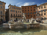 Fountain in Piazza Navona, Rome, Lazio, Italy, Europe Photographic Print by Angelo Cavalli
