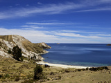 Bay on Isla del Sol, Lake Titicaca, Bolivia, South America Photographic Print by Simon Montgomery