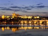 St Vitus Cathedral, Charles Bridge, UNESCO World Heritage Site, Prague, Czech Republic Photographic Print by Gavin Hellier
