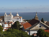 View from Castelo de Sao Jorge to Sao Vicente de Fora Church, Lisbon, Portugal, Europe Photographic Print by Stuart Black